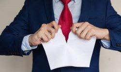 Уведомление о расторжении договора в связи с неисполнением обязательств