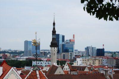 Вид на город Дома в Эстонии
