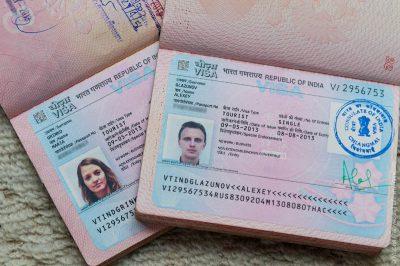 Паспорта с индийскими визами