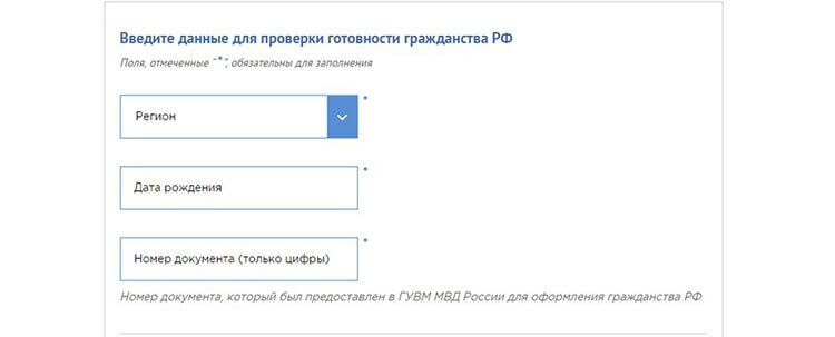 Выбираем сервис «Проверка готовности гражданства РФ»