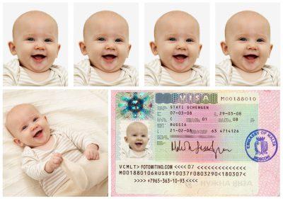 фото новорожденного на загранпаспорт