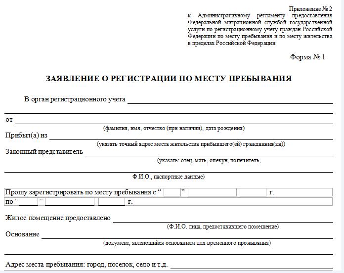 Наличие временной регистрации в Санкт-Петербурге