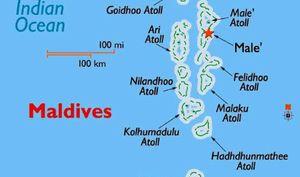 Мальдивы на карте