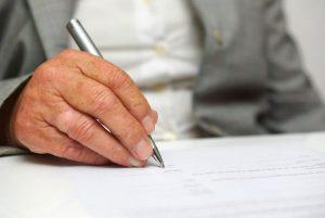 Подпись на бумагу
