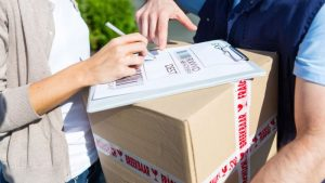 Подпись при доставке товара