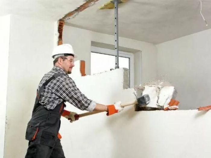 Снос стены ремонт