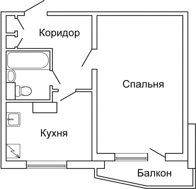 Планировка п44 1 комнатная