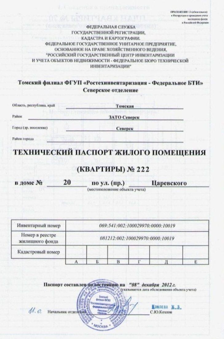 Новый вариант технического паспорта