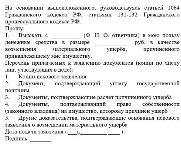 Образец бланка искового заявления (1)